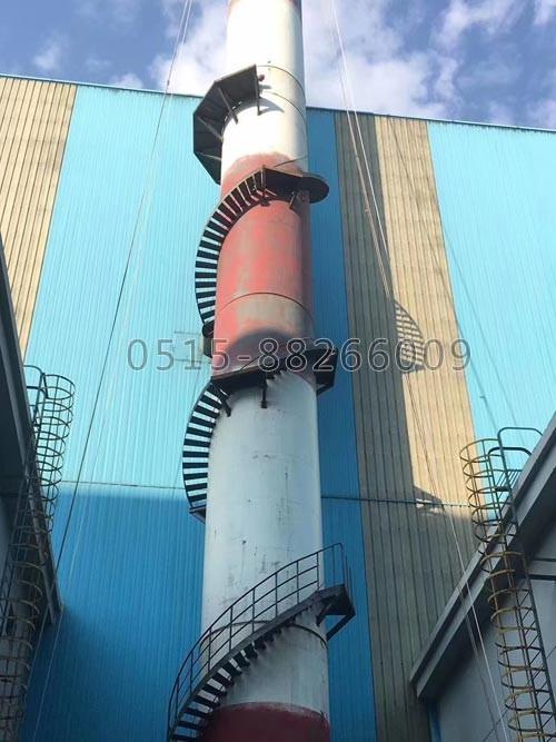 钢烟囱安装爬梯(图1)