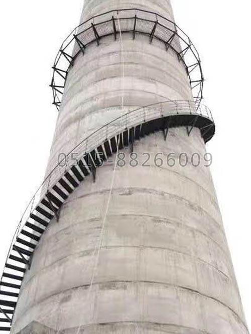 烟囱安装爬梯及监测平台(图1)