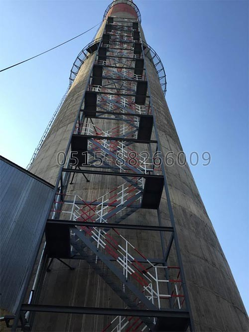 烟囱安装Z型爬梯(图1)